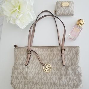 Michael Kors Signature Tote + Matching Wallet